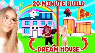 BEST FRIENDS *DREAM HOUSE* BUILD CHALLENGE In Adopt Me! (Roblox)