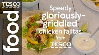 Speedy grilled chicken fajitas