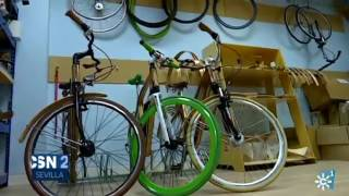 Bicicletas de madera made in Andalucía