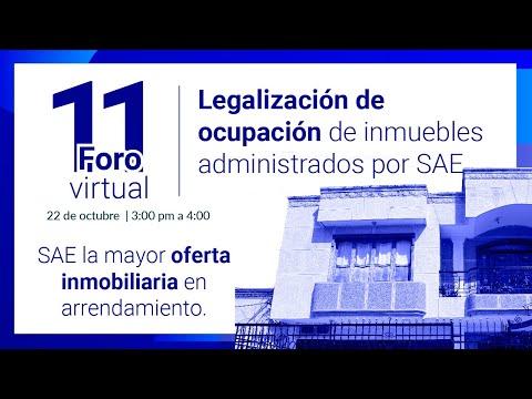 11 Foro virtual - Legalización de ocupación de inmuebles administrados por SAE