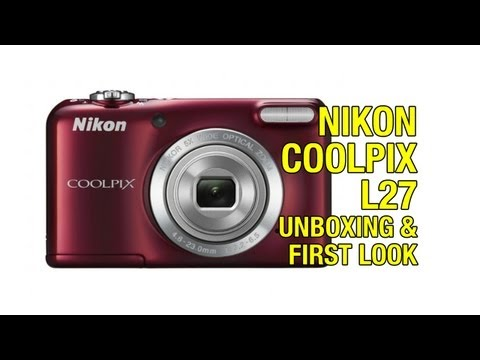 Nikon Coolpix L27 Digital Camera Unboxing & First Look