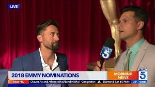 Doug Kolk Talks to Ryan Eggold at the 2018 Emmy Nominations