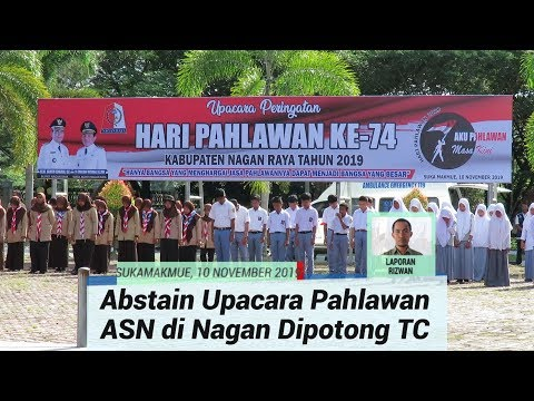 ASN Nagan Raya yang Tidak  Hadiri Upacara Hari Pahlawan Dipotong TC