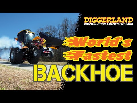 The World's Fastest Backhoe at Diggerland USA