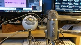 Recording Vocals With The BLUE YETI And SNOWBALL Condenser Microphone