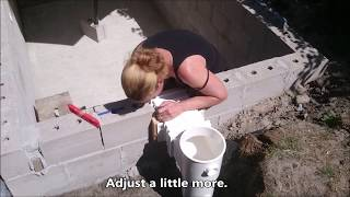 How to install a pool skimmer and inlet - DIY with Nicole