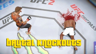 EA Sports UFC 2 - Best Brutal Knockouts Compilation #1
