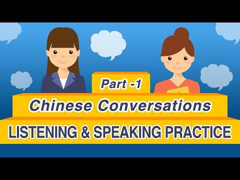 100 Daily ChineseConversations (Part 1) -  Learn Mandarin Chinese Listening & Speaking