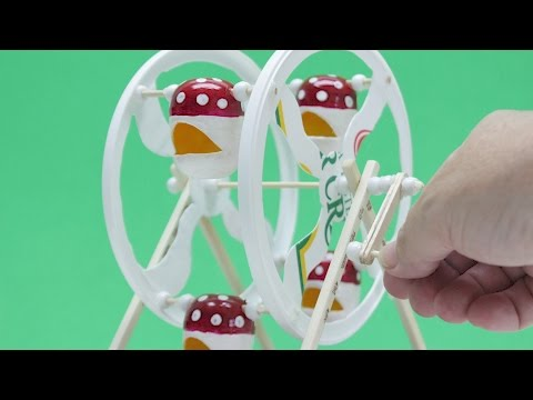 How to Make a Working Ferris Wheel at Home - Diy Projects/Crafts Ideas for Kids