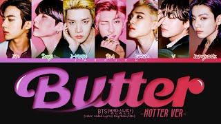 BTS Butter (Hotter Remix) Lyrics (Color Coded Lyrics)