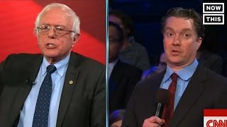 Bernie Sanders Argues With Small Business Owner At CNN Town Hall