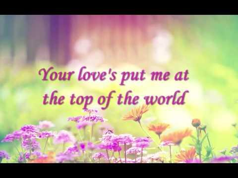Top of The World-The Carpenters (Lyrics)