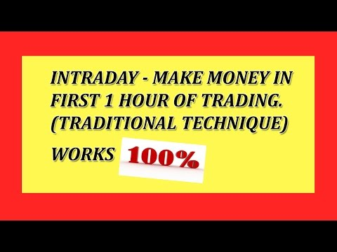 INTRADAY- HOW TO MAKE MONEY IN 1ST HOUR OF TRADING(TRADITIONAL TECHNIQUE) WORKS 100% OHOL IN HINDI