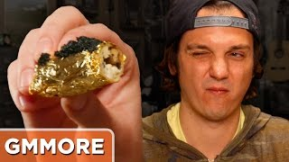 Real Gold-Wrapped Egg Roll Taste Test