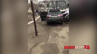 Плохое самочувствие водителя Тойоты Калдина привело к лобовому столкновению с пассажирским автобусом