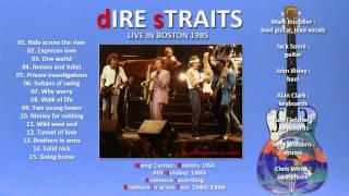"""Dire Straits """"Ride across the river"""" 1985 Boston [AUDIO ONLY]"""