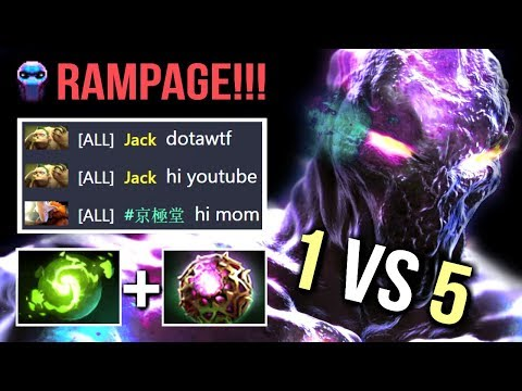 Almost 1 vs 5 Epic 2x Black Hole Enigma RAMPAGE 11x Demonic Summon Best Try Hard by Evadin Dota 2
