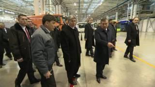 Президенты посетили предприятие «Man Auto-Uzbekistan»