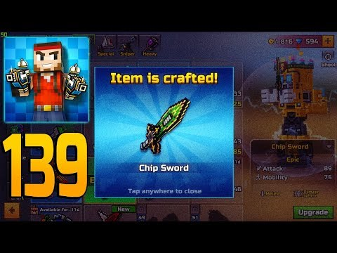 Pixel Gun 3D - Gameplay Walkthrough Part 139 - Chip Sword