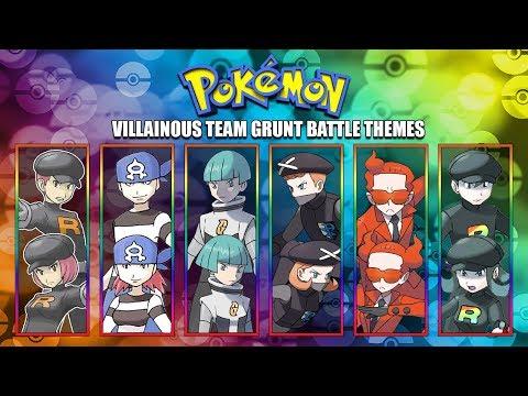 All Pokémon Villainous Team Grunt Battle Themes [GEN 1-7] 2017