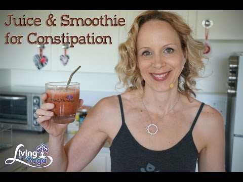 Video Juice and Smoothie for Constipation