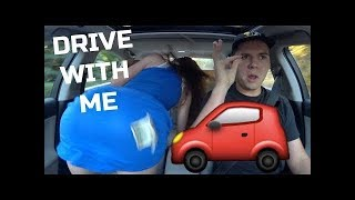 DRIVE WITH ME  TWERKING, FREESTYLE RAPPING + ALMOST HITTING A LADY