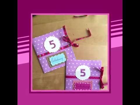 DIY Einladungskarten selber basteln|leichte Anleitung| Kindergeburtstag| süße Karten selber machen
