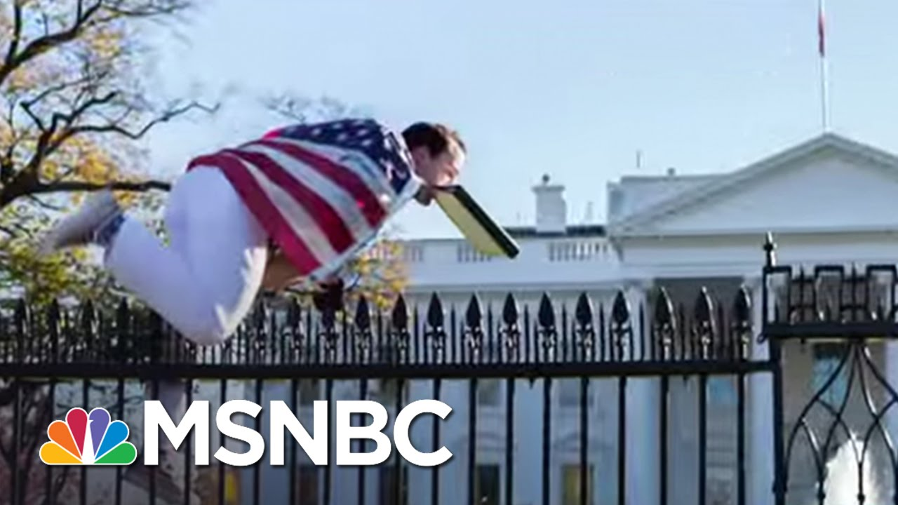 Fence Jumper Forces White House Into Lockdown   MSNBC thumbnail