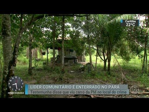 Corpo de líder comunitário morto em Barcarena é enterrado   SBT Brasil (13/03/18)