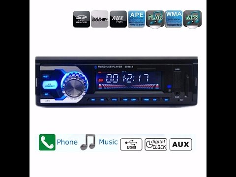 Videorecensione ITA AUDEW Bluetooth Autoradio Stereo Lettore per auto MP3 Car FM Radio AUX