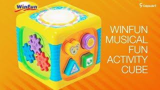 Winfun Musical Activity Cube #musicaltoy #fidgetbox #activitybox #babytoys #fidgetcube