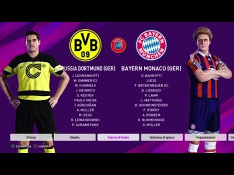 Borussia Dortmund LEGENDS vs Bayern Munich LEGENDS - PES 2020 PS4