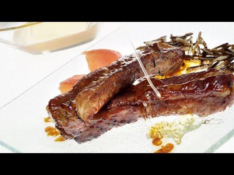 Costillas de cerdo asadas con soja y miel - Eva Arguiñano