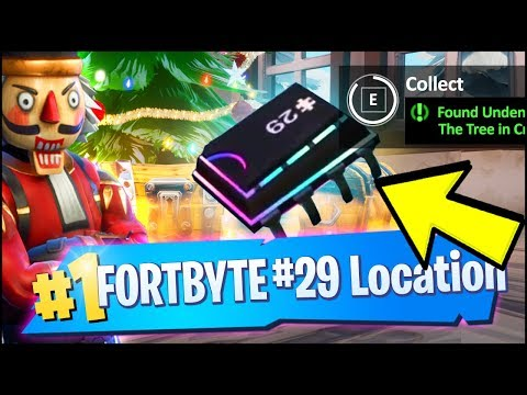 FORTBYTE 29 Location - FOUND UNDERNEATH THE TREE IN CRACKSHOT'S CABIN (Fortnite)