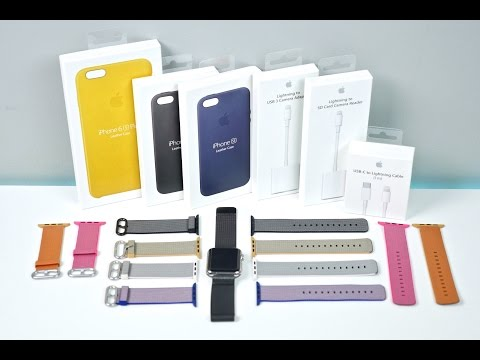 New Apple Watch Bands, Fast Charger & 6S Cases Unboxing & Review!