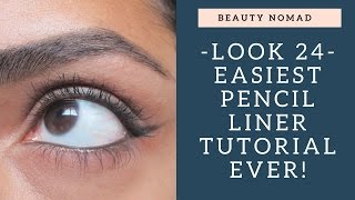How To Do Eyeliner With A Pencil- Easiest Tutorial For Beginners Ever!