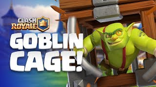Clash Royale: NEW CARD REVEAL! 😲 Goblin Cage enters the Arena!