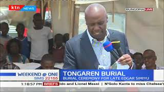 Senator Moi the attends of  the burial of the late Edgar Simiyu