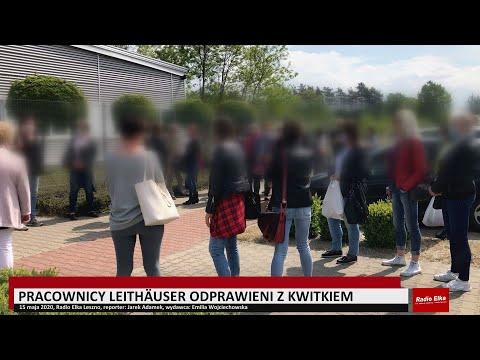 Wideo1: Pracownicy Leithäuser zebrali się przed siedzibą firmy w Lesznie