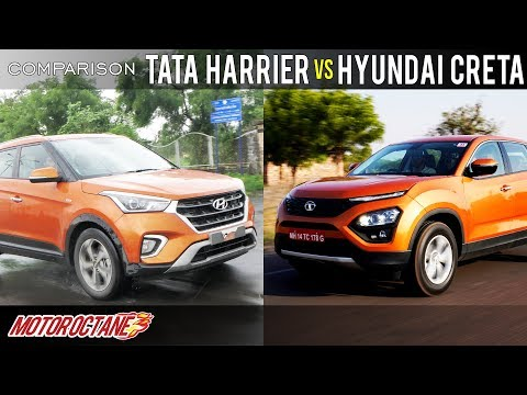 Tata Harrier Vs Hyundai Creta Comparison | Hindi | MotorOctane