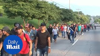 'March of the Migrants' draws over 1,000 Hondurans to US border