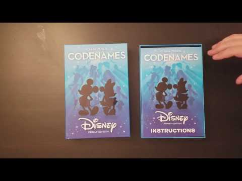 Codenames Disney Family Edition Unboxing