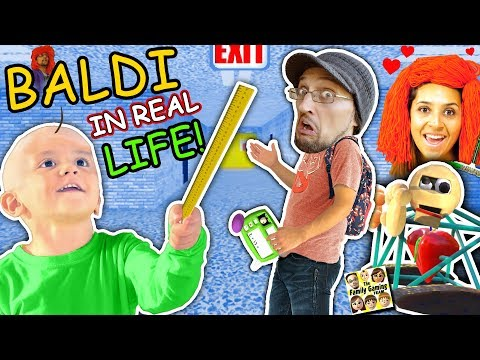 BALDI'S BASICS In Real Life!! FGTEEV goes to School of Education & Learning (Skit)