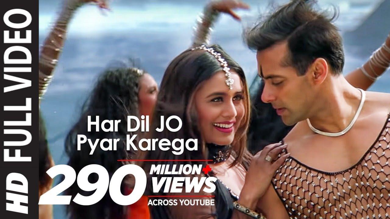 Full Video: Har Dil Jo Pyar Karega Title Song  Salman Khan,Rani Mukherjee  Udit Narayan, Alka Yagnik  Udit Narayan and Alka Yagnik Lyrics
