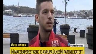 TRT Ana Haber Bülteni - Bora Güngör Röportaj (Paten İle Avrupa Turu)