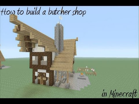 How to build a medievil butcher shop in Minecraft MinecraftVideos TV