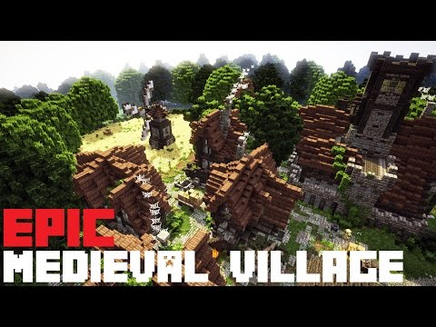 Minecraft medieval town build map [download] youtube.