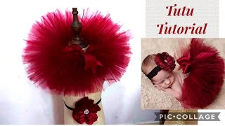 DIY Newborn Baby Photography Prop, How To Make Tutu Skirt For Baby Girls Very Fluffy Easy Way