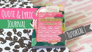 "Quote & Lyric Book •TUTORIAL• | ""Use Your Paper"" Series Idea #8"