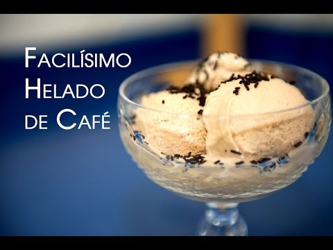 Helado de Cafe Sin Maquina, Sin Huevos y Sin Coccion